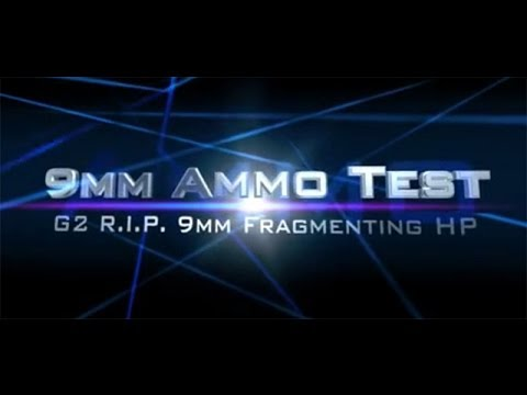 G2 RIP R.I.P. 9mm Radically Invasive Projectile tested in ballistic gel test review