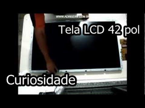 Desmontagem de tela LCD 42 Pol. (CURIOSIDADE) - Disassembly LCD Screen - Curiosity