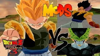 Dragon Ball Z Tenkaichi 3 MODS Gotenks GT adulto vs Cell Perfect