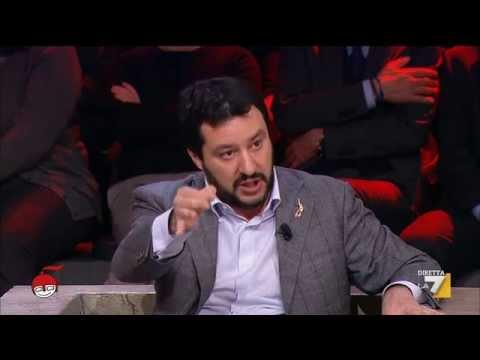 Matteo Salvini intervistato sul Quirinale da Giovanni Floris [27/01/2015]
