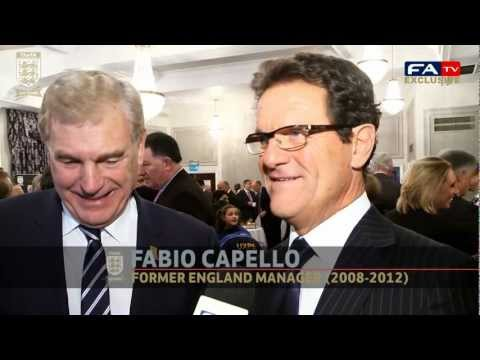 Ex-England managers Fabio Capello, Sven-Goran Eriksson and Graham Taylor on the FA turning 150