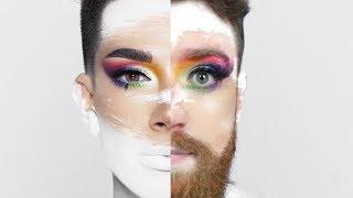 tentei seguir um tutorial de maquiagem do james charles e foi um desastre
