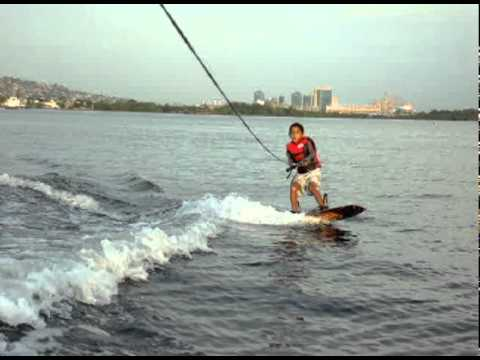 7yr old Joshua Wakeboarding in Trinidad.dv