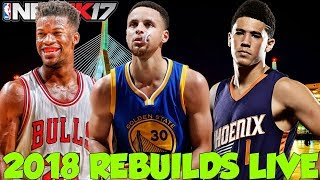 REBUILDING THE 2018 WIZARDS LIVE!
