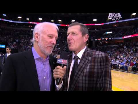 Greg Popovich Welcomes Craig Sager Back to the Sidelines