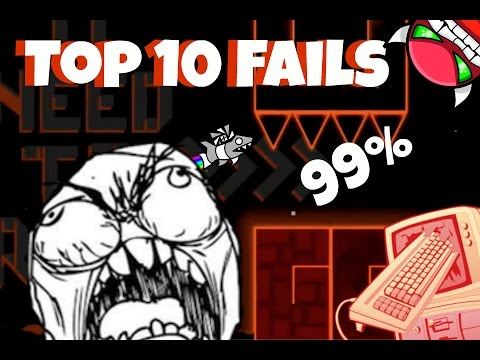 10 Most Stupid Fails Ever In Insane Demons Geometry Dash