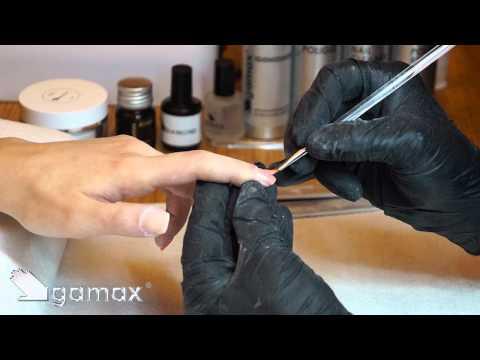 Cobertura de uñas naturales con gel y aplicación del gel de color (metodo gamax)