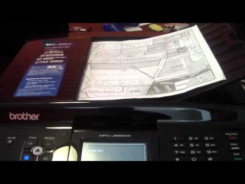 BROTHER MFC - J825DW PRINTER REVIEW WIFI 825 FAX SCAN COPY CD DVD PRINTING