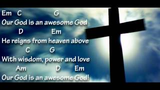 AWESOME GOD LYRICS AND GUITAR TABS