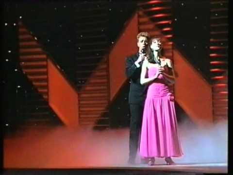 "From the 1989 Royal Variety Performance at The London Palladium. Sir David Frost introduces a segment from ""Aspects of Love"" - the newest Andrew Lloyd Webber..."