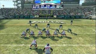 MADDEN NFL 09 (PS3) NEW YORK GIANTS vs PHILADELPHIA EAGLES 4th QUARTER