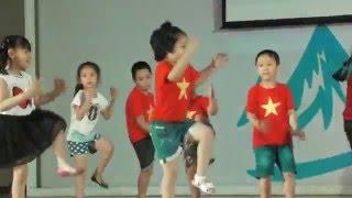 Nhảy: Những chú Milion dễ thương - H/s Mầm non A Ba Đình giao lưu tại Banmai School