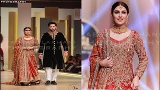 Ayeza Khan and Danish Taimoor walked on Ramp at BCW2017.