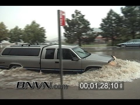 6/26/2004 Chatfield Colorado Flooding Video