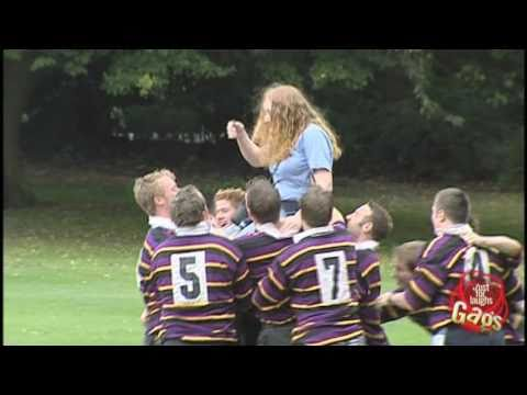 Rugby Team Attack Prank! - Just For Laughs Gags