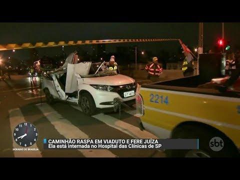 Juíza morre após ser atingida por pedaços de concreto em acidente | Primeiro Impacto (20/11/17)