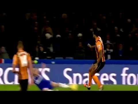 Tom Huddleston RED CARD HORRIBLE Tackle on Filipe Luis Chelsea vs Hull City 2-0 HD