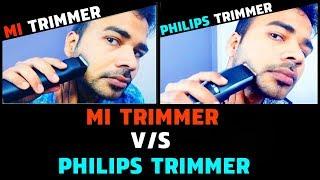 Mi Trimmer vs Philips Trimmer Review & Live Trimming Test | Best beard Trimmer for men under 1500