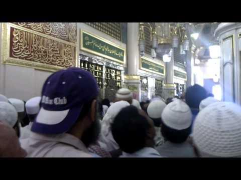 Hazri of Roza Mubarak of Hazrat Muhammad (SAW) in Medina