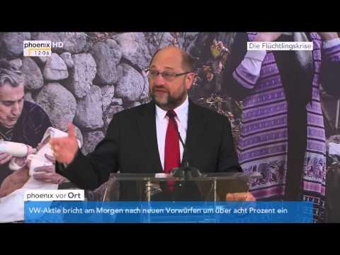 Flüchtlingspolitik: Statement von Jean Asselborn und Martin Schulz am 04.11.2015