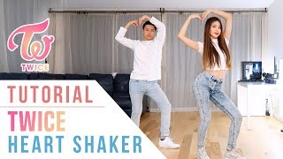 "TWICE(트와이스) - ""Heart Shaker"" Dance Tutorial (Mirrored) 