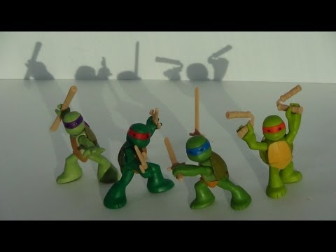 TMNT Ninjas in Training Nickelodeon Cartoon 2012 Figure Review