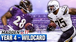 Madden 17 Chargers Franchise Year 4 - Wildcard Playoffs @ Ravens | Ep.89