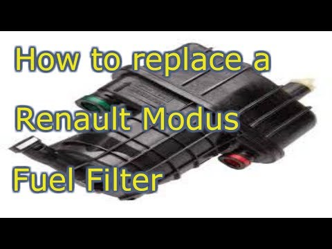 how to easily replace and bleed a renault modus diesel fuel filter youtube. Black Bedroom Furniture Sets. Home Design Ideas