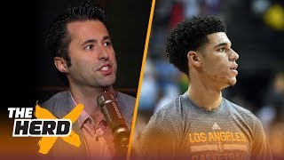 LeBron James watches Lonzo Ball: Is Lonzo already living up to the hype?   THE HERD