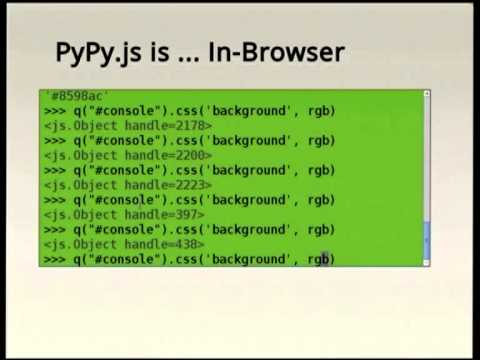 Image from PyPy.js: What? How? Why?