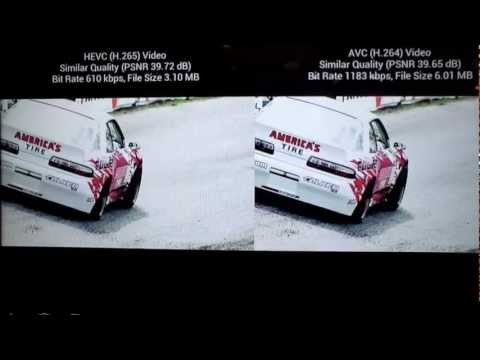 Qualcomm H.265 and H.264 video compare