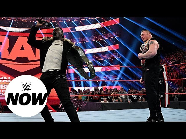 What was up on Raw between Brock Lesnar and R-Truth? WWE Now