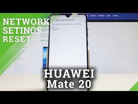 How to Restore Network Settings in HUAWEI Mate 20 - Reset EMUI Network Settings