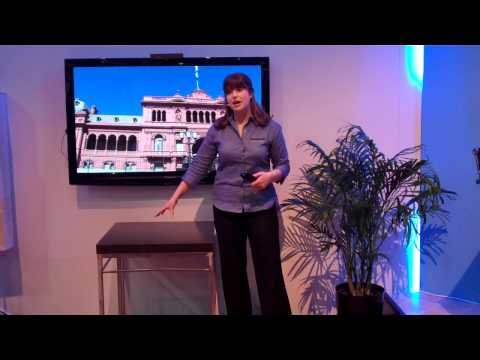 Panasonic / Skype Demonstration at CES (Emilie Barta, Trade Show Presenter/Corporate Spokesperson)