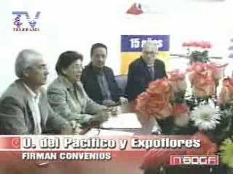 Universidad del Pacífico y Expoflores firman convenio