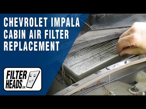 Cabin Air Filter Replacement Chevrolet Impala Youtube