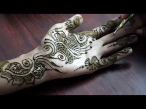 Simple & Cute Arabic Mehendi Design Front Hand - Ilovemehandi.tv video