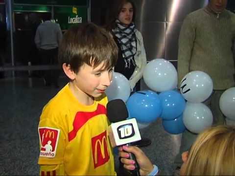 Regresó el niño cordobés que ingresó al estadio con Messi