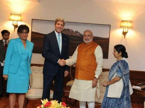 US Secretary of State John Kerry meets PM Narendra Modi