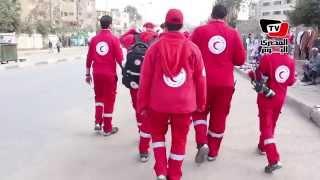 الهلال الأحمر يدفع بفرق الإنقاذ في ذكرى ثورة يناير
