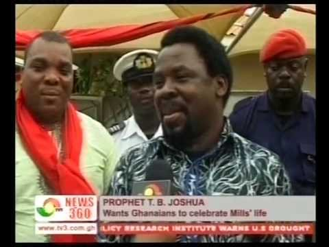 "Prophet T.B. Joshua speaking to Ghanaians on the death of Ghana's President, Atta Mills. He called on them to unite their words and deeds. He said, ""We shoul..."
