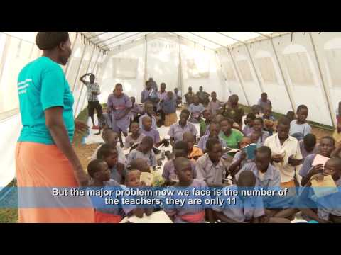 UNICEF supports education of South Sudan refugee children