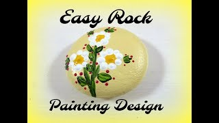 Easy Rock Painting Design | Painting Rocks Tutorial | Aressa | 2019