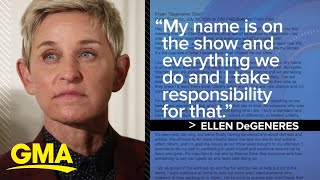 DeGeneres responds to allegations of toxic work environment