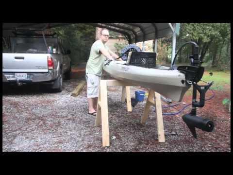 My tarpon 140 fishing kayak how to make do everything for Cabela s advanced angler 120 trolling motor