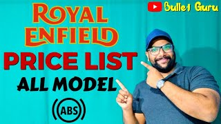 """Royal Enfield All ABS Model """"PRICE LIST"""" - Full Details"""