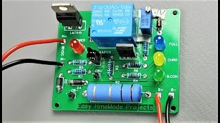 How to Make Automatic 12V Lead Acid Battery Charger Circuit Board