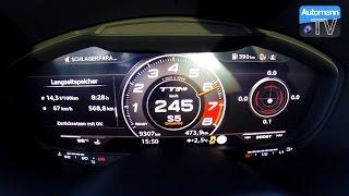 2017 Audi TT RS (400hp) - 0-263 km/h LAUNCH CONTROL (60FPS)
