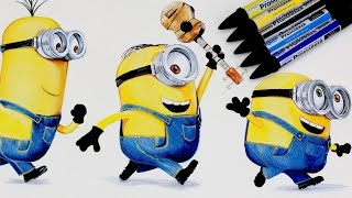 MINIONS Drawing DESPICABLE ME  😎