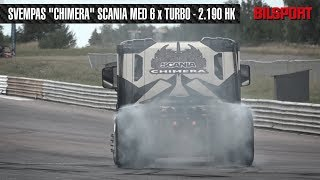 Chimera burnout - 2.190 hk Scania V8! (Trailer Trucking Festival)